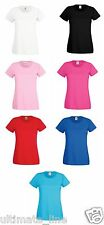 Fruit of the Loom Women's T Shirt Ladies Top Lady Fit cotton/Lycra®rib CLEARANCE