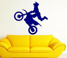 "Motocross Motorcross Stunt Dirt Bike Kid Room Wall Vinyl Decal Sticker 44""x44"""