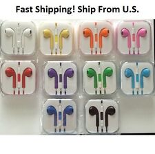 BRAND NEW Colorful Ear-buds Earphones for Iphone 5 5S Ipod w/Case&Volume Control