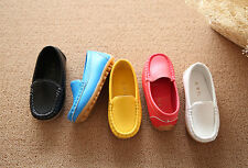 Kids Baby Toddler Girl Boy Loafers Soft Faux Leather Flat Slip-on Casual Shoes