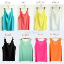 Candy Color Chiffon Korean Style Vest Camisole Women Sleeveless Shirt Top Blouse