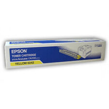 GENUINE EPSON C13S050242 / S050242 YELLOW LASER PRINTER TONER CARTRIDGE