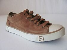 New UGG Australia Womens Brown Suede Evera Fashion Oxford Sneakers Shoes $110