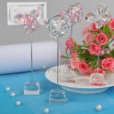 10PCS Pink/Clear Butterfly Place Card Holder Table Decor Wedding Favors Shower