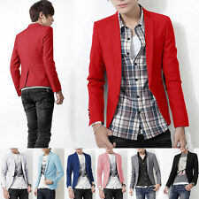 NEW ARRIVAL Mens Slim Fit Stylish Casual One Button Suit Coat Jacket Blazer