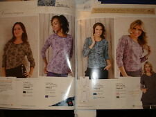 KOI EMMY LONG SLEEVED TEE with LACE PATTERN, AMETHYST  size small