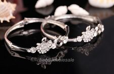 1PC Fashion Crystal Rhinestone Bangle Bracelet For  Wedding Party  55x16mm