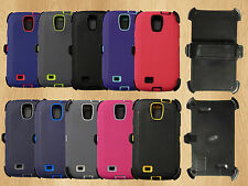 for samsung galaxy s4 High Quality HD Hybrid Case w/built in Screen Protector