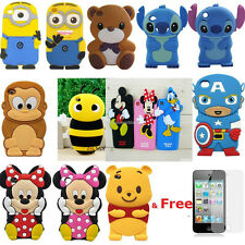 Child Gift 3D Cute Disney Cartoon Soft Cover Case For ipod touch 4 4th gen 4g