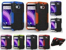 For HTC One M8 Armor Shockproof Heavy Duty Impact Hard Stand Phone Case Cover