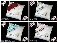 ~ Personalised wedding ring cushion pillow with rings holder box ~