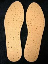LEATHER LEATHERETTE INSOLES FOR SPORT WORK BOOTS SHOES UK SIZES 3-12 SELF CUT
