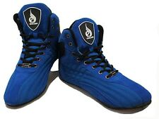 RYDERWEAR RAPTORS BODYBUILDING SHOES GYM TRAINING WEIGHTLIFTING - BLUE