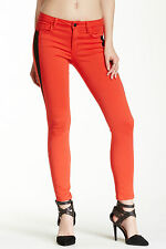 New JOE'S JEANS Skinny Ankle Super Chic Oblique Bright Red Jeans 24 25 27 28 29