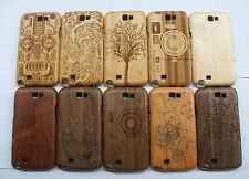 Fashion Carved Design Genuine Wooden Bamboo Case for Samsung Galaxy Note 2 N7100