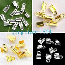 Metal clasp Hooks Fold Over Crimp cord End Beads buckle Return type Connector JP