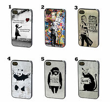 Banksy Street Art Artist Wall Graffiti Case Cover for iPhone 4 4S 5 5S 5C 6