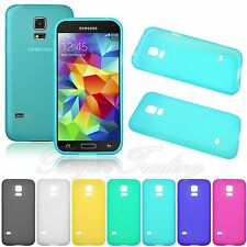 Ultra Slim Frosted Matte Gel TPU Back Case Cover Skin for Samsung Galaxy S5 Mini