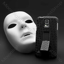 APPLE IPHONE SAMSUNG GALAXY BLACK HOLSTER BELT CLIP HARD PROTECTER CASE COVER