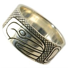 925 Sterling Silver Native Designed Orca Ring