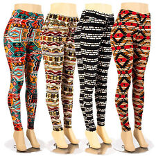Women Plus Size Leggings Tribal Aztec Print Soft Stretch Pant Tights 1X 2X 3X 4X