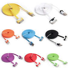 1M 3FT Flat Noodle USB Sync Data Charger Cable for iPhone 4 4S 3GS iPod Touch