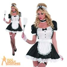 Sassy Sexy French Maid Costume Adult Fancy Dress Ladies Womens Waitress Outfit