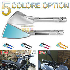 Motorcycle Rearview CNC Billet Side Mirrors For ZZR YZF CBR Universal US Stock