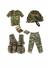 Kids Army Camo Fancy Dress Children's Soldier Outfit Uniform Play Set 2