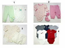 New infant Baby Creeper Bodysuit set Carters size 3-6,9 Mo