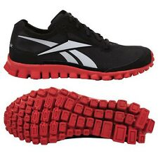 Reebok REAL FLEX BLACK/RED J83212  SHOES  BOYS SIZES 6.5 TO 7