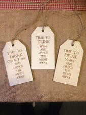 Shabby Chic Wooden Gift Tag - Personalised / Buy 2 get 1 Free