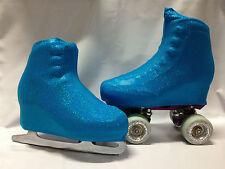 Blue Holographic  Boot Covers for RollerSkates and Ice Skates  S,M,L