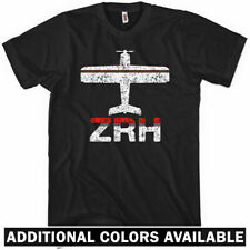 Fly Zurich ZRH Airport T-Shirt - Germany DE Flugzeug Plane - Men / Kids XS-4XL
