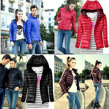 Womens Winter Warm Candy Color Thin Slim Down Coat Jacket Outwear Overcoat Parka
