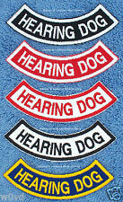 1 HEARING DOG ROCKER PATCH  service Danny & LuAnns Embroidery