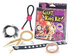 5 PC Giant Penis Erection Enhancer Ring Set - 5 Different Love Rings / Sex Aids