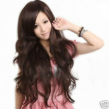 Lady fashion Beautiful Long Hair Fluffy Big Wave Curls Wig Styling Wigs 3 Colors