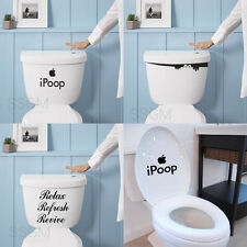 Quote iPoop Monster Toilet Seat Bathroom Sticker Decal Removable Mural Décor