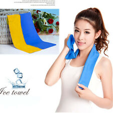 New Ice Cold Cool Sport Cooling Towel Reuseable Cycling Jogging Golf Hiking