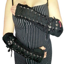Queen of Darkness Premium Gothic Corset Arm Warmers clubwear Industrial Cyber