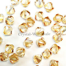 4mm Crystal Golden Shadow Genuine Swarovski crystal 5328 / 5301 Bicone Beads