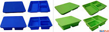 COLLAPSIBLE 3 compartment LUNCH BOX FOOD STORAGE CONTAINER wacky yet practical