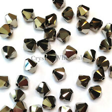 5mm Crystal Metallic Light Gold 2x (001 MLG2) Swarovski 5328 / 5301 Bicone Beads