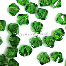 5mm Fern Green (291) Genuine Swarovski crystal 5328 / 5301 Loose Bicone Beads