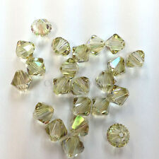 6mm Crystal Luminous Green (001 LUMG) Swarovski crystal 5328 / 5301 Bicone Beads