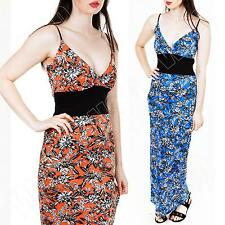 New Womens Ladies Sexy Party Floral Print Casual Summer Maxi Dress Size S M L