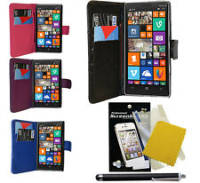 For Nokia Lumia 930 Wallet PU Leather Case Cover   Free Screen Guard  Stylus Pen