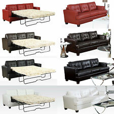 CLEAN Lines 4 Colors 4 Type Diamond Bonded Leather Sofa Bed Queen Sleeper