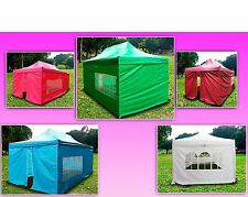 New Delux EZ Canopy Pop Up Tent 20 X 10' Gazebo White Red Pink Skyblue Green